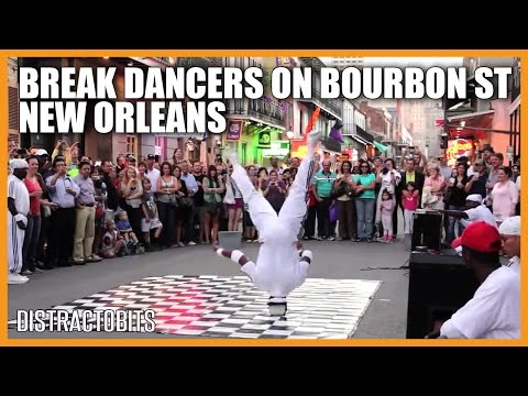 Break Dancers on Bourbon Street, New Orleans