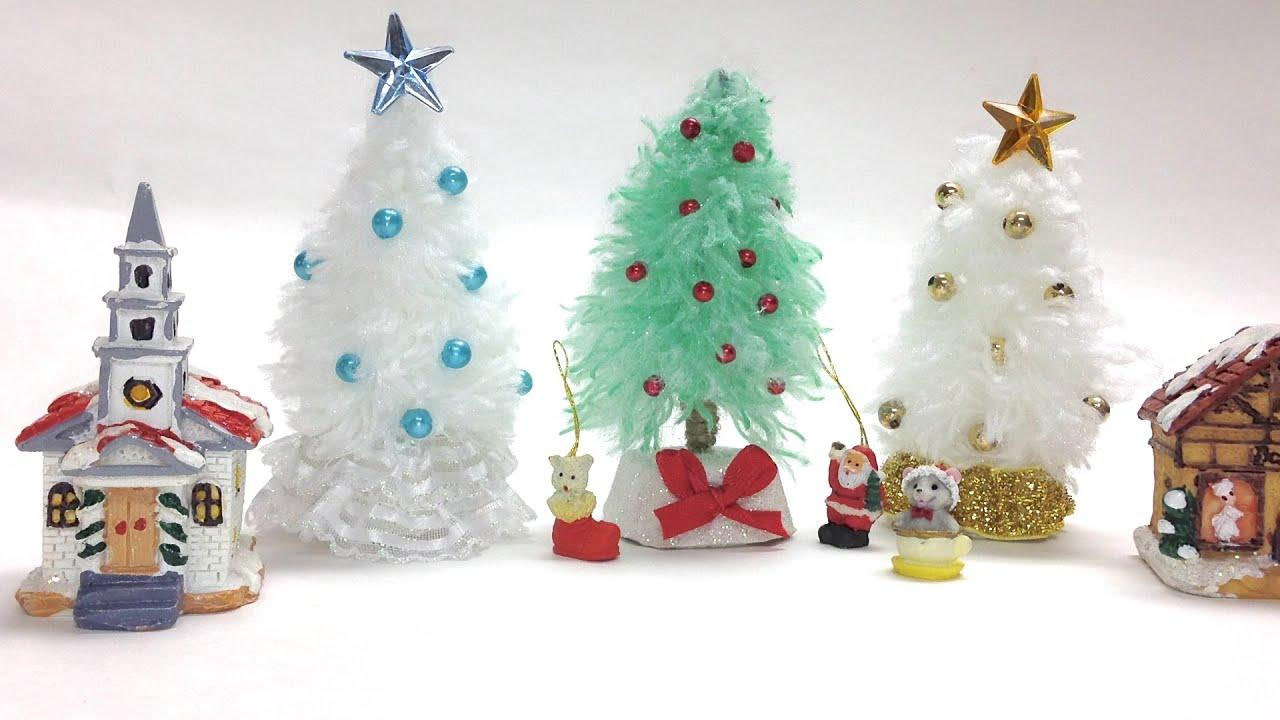 Como Hacer Arboles De Navidad Mini Youtube - Hacer-arboles-de-navidad
