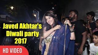 Ekta kapoor Javed Akhtar And Shabana Azmi Diwali Party 2017