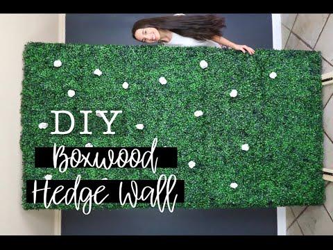 DIY MOBILE HEDGE WALL (SUPER AFFORDABLE!)