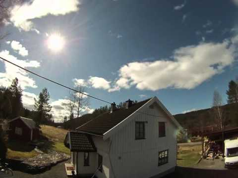 timelaps countryside in norway