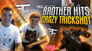 Trickshot Race Against my Brother ONLINE! (3 SHOTS!)