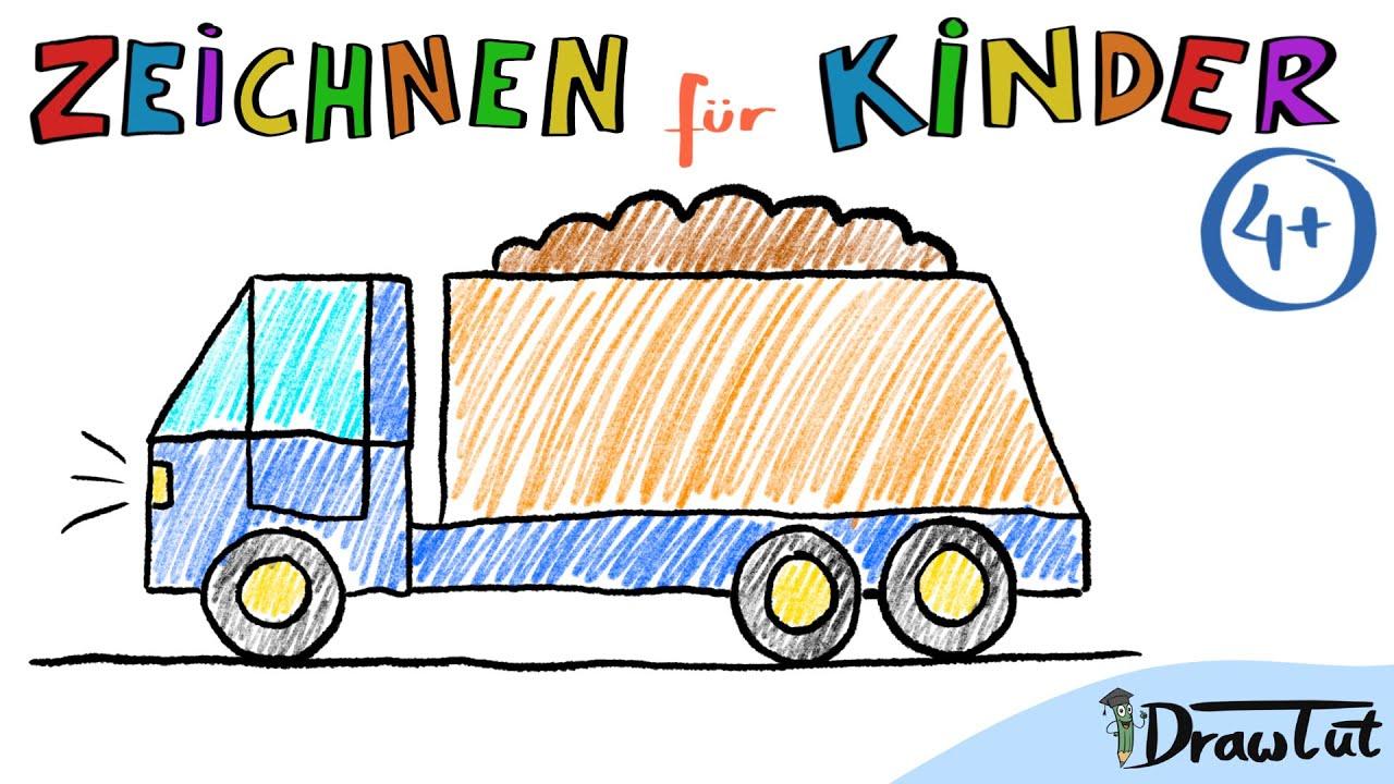 lastwagen zeichnen  tobis malschule  4  malen und