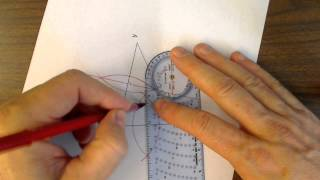 Construction 10 Circumscribe a circle about a triangle