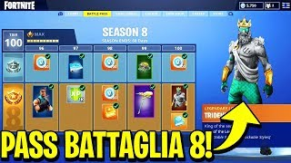 The NEW PASS BATTLE OF SEASON 8 is ASSURDO!! - Fortnite ITA