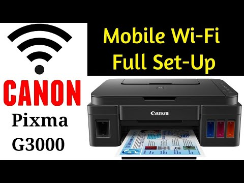 Mobile Wi-Fi Full Set Up Canon Pixma G3000 | By TECH MUKANS