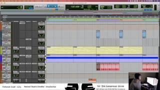 "Working on ""Harps"" with Matt #protools #producing #music #drop #EDM"
