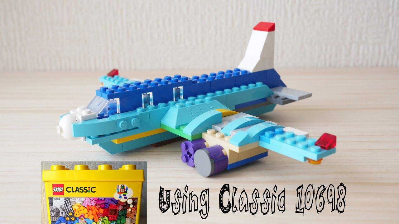 Building a lego airplane using classic 10698 for Modele maison lego classic