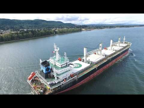 Marina R Bulk Carrier on the Columbia River