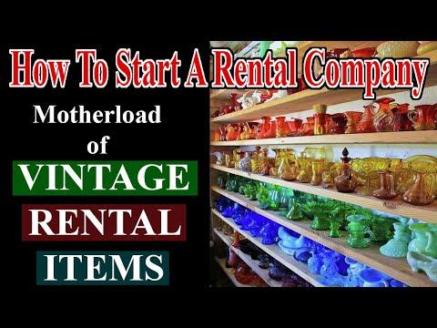 Found The VINTAGE GLASSWARE Motherload - Start A Rental Company - Vintage Rentals