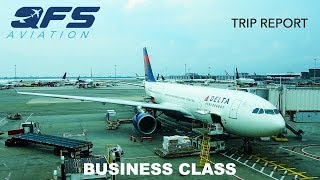 TRIP REPORT | Delta Airlines - A330 200 - New York (JFK) to London (LHR) | Business Class