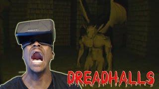 MOVING GARGOYLE!!! | DREADHALLS OCULUS RIFT DK2 HORROR GAME