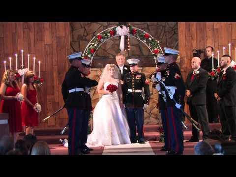Marine Uses Sword In Wedding