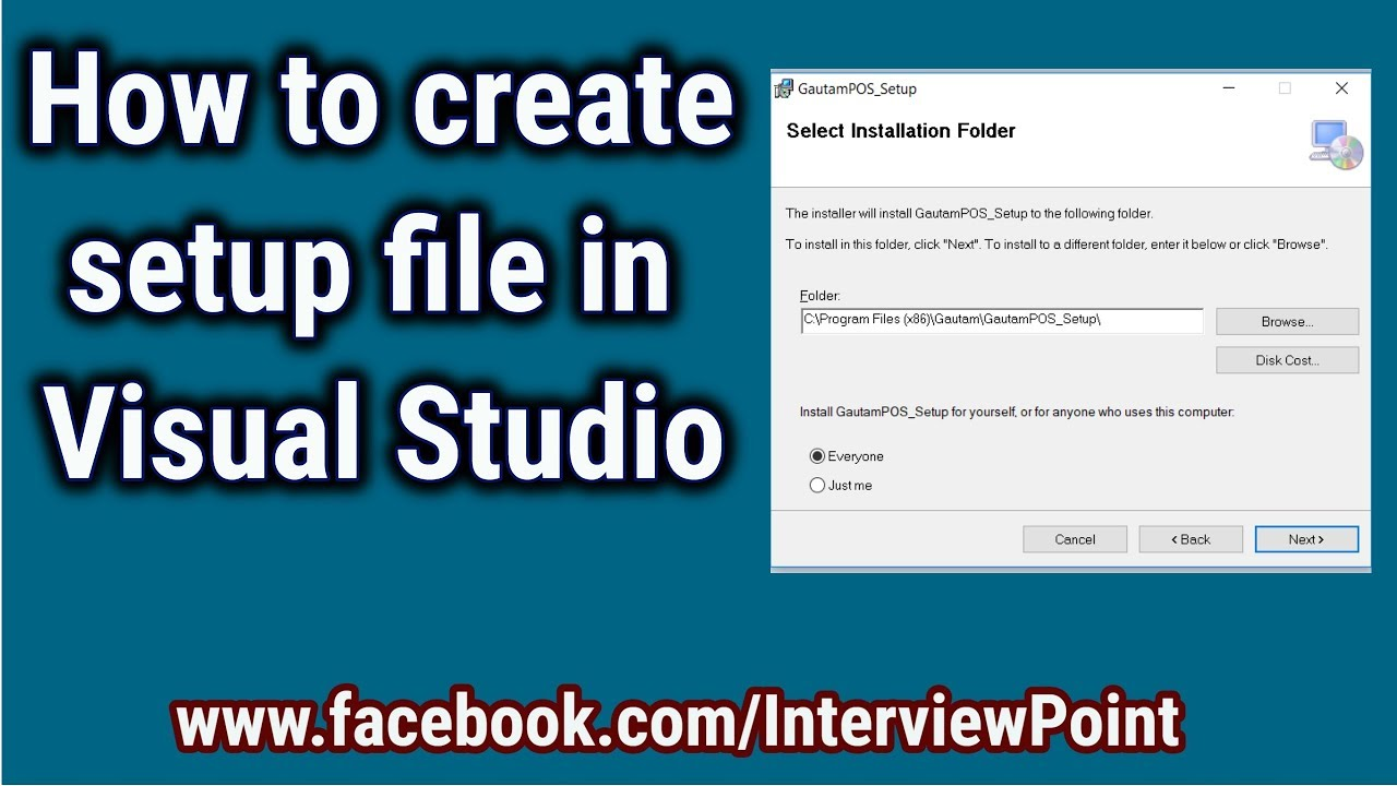 How to Create Installer for Windows Application || Create Setup file in  Visual Studio