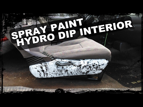 HOW TO SPRAY PAINT HYDRO DIP INTERIOR PIECES - COLOSSUS Build