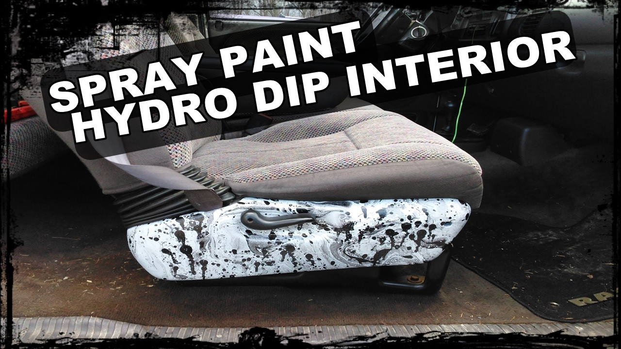 HOW TO SPRAY PAINT HYDRO DIP INTERIOR PIECES - COLOSSUS Build - YouTube