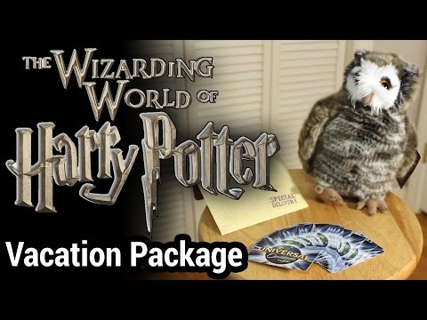 The Wizarding World of Harry Potter Vacation Package Unboxing
