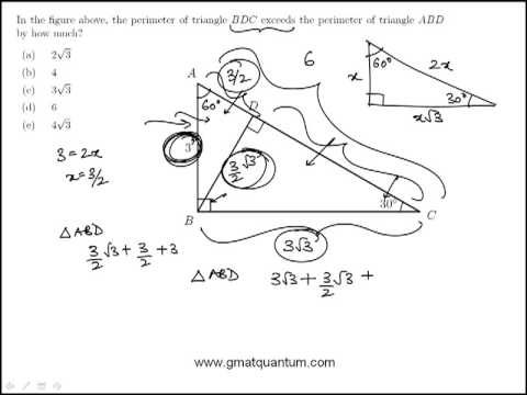 GMAT Geometry: 30-60-90 Triangles Practice Question#47
