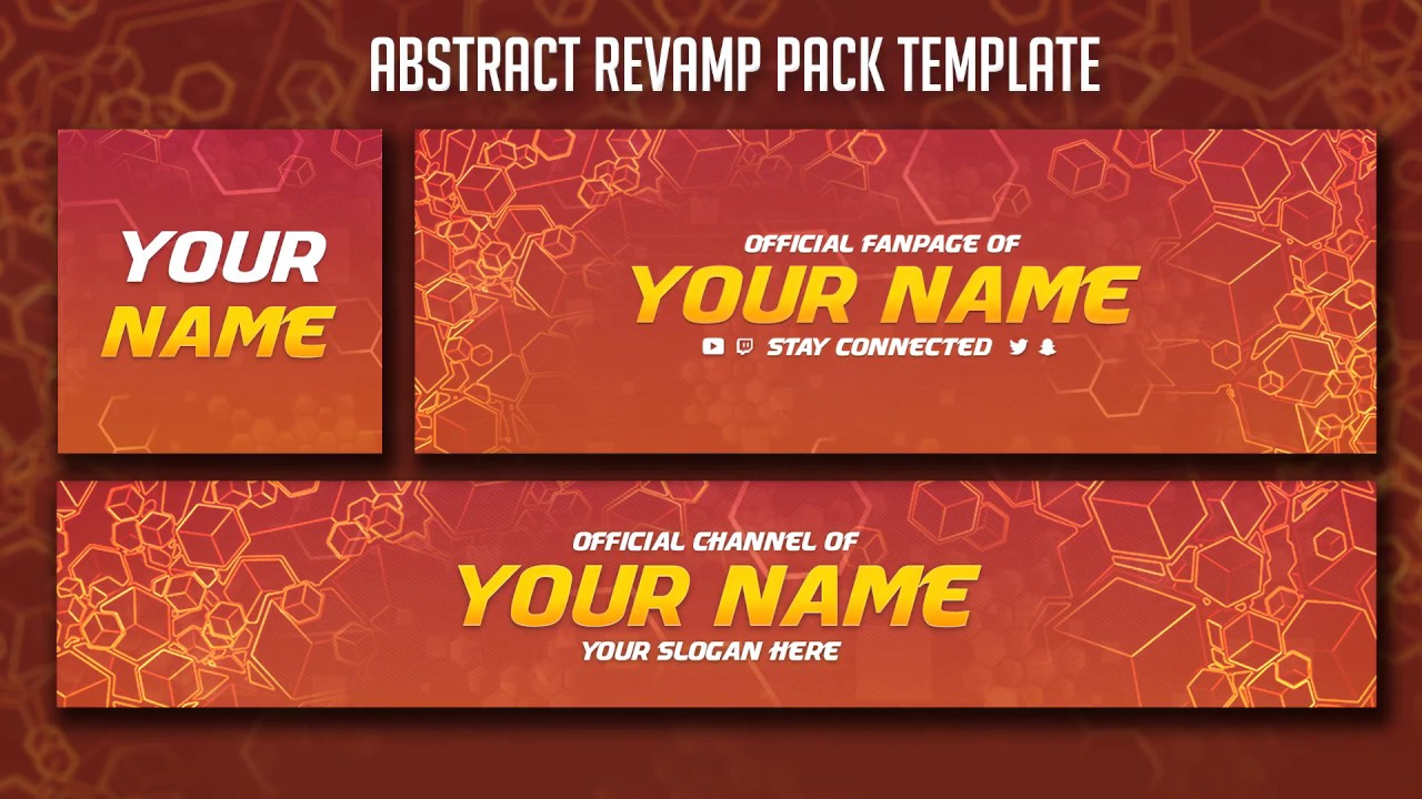 Free Abstract Revamp Pack Template Youtube Banner