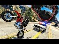 WHEELIE AROUND THE WHOLE MAP... WHILE WANTED!? - (GTA 5 Stunt Challenge)