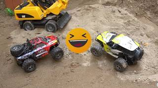 Rescue vehicles, excavators to rescue terrain vehicles buried by sandstorms | Cubin toy