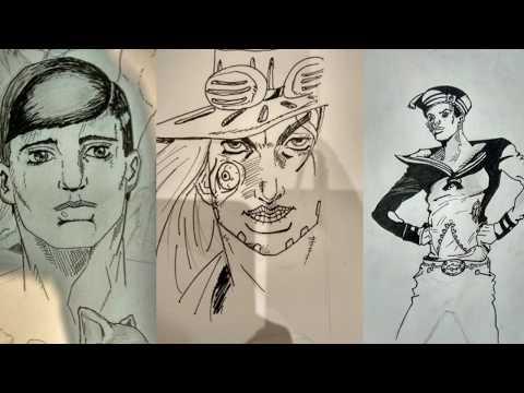 Как рисовать в стиле ДжоДжо, стиль Араки