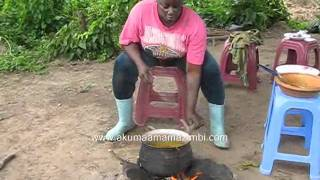 Best traditional African meal in the farm (Akple and Okro Stew)