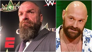 Triple H on Tyson Fury, Cain Velasquez appearing at Crown Jewel | WWE on ESPN