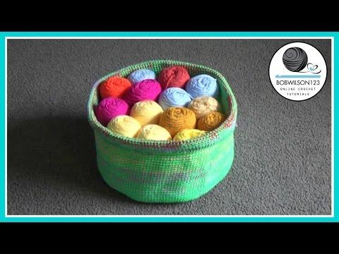 Crochet Yarn Basket Tutorial