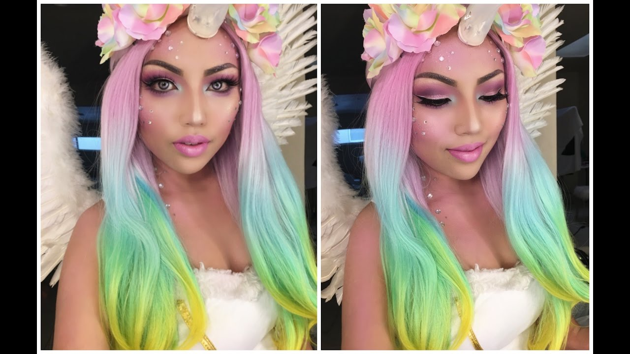 Magical UNICORN Makeup Tutorial !!! - YouTube