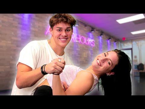 Noah Beck Tries DANCING Salsa & Tango w/ Kenzie Ziegler 💃 | AwesomenessTV