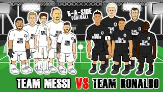 ⚽️5-A-SIDE MESSI vs RONALDO!⚽️ Feat Mbappe, Zlatan, Haaland, Mane + the Frontmen