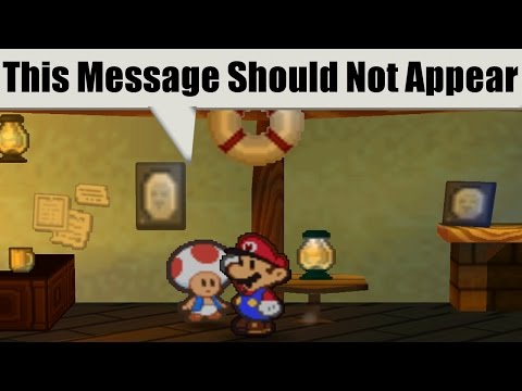 A PAPER MARIO Glitch Has Uncovered a Hidden Message