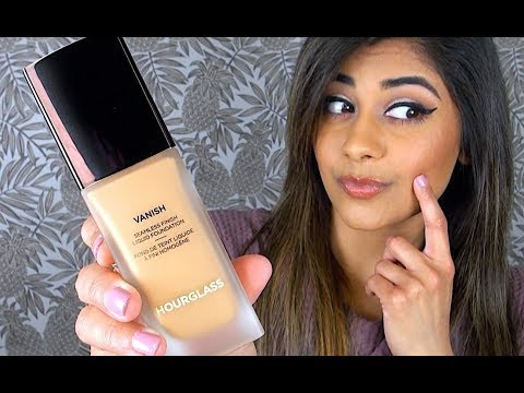 NEW HOURGLASS Vanish Liquid Foundation | Review, Demo, & Wear Test