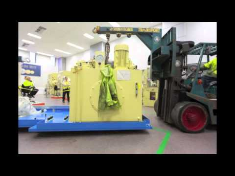 Mint Impossible: The installation of the 1250 tonne press