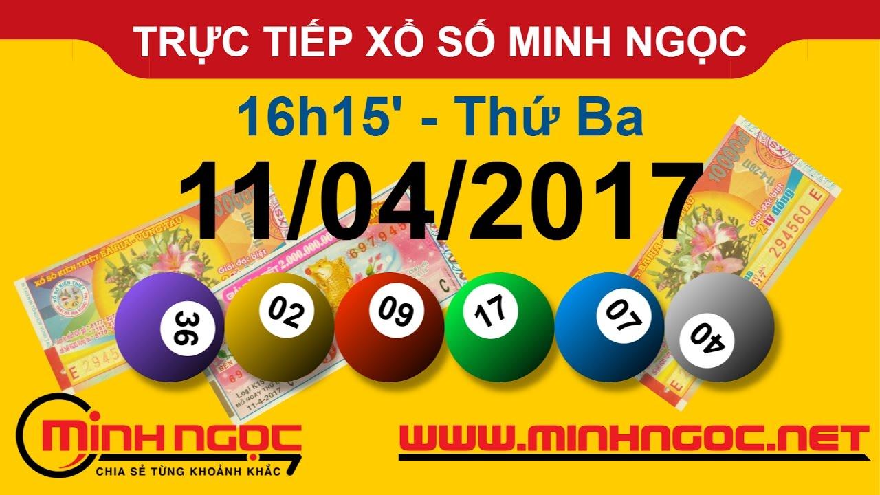 Xổ số MINH NGỌC 11-04-2017 - Minhngoc.net.vn