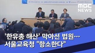 """'한유총 해산' 막아선 법원…서울교육청 """"항소한다"""" (…"""