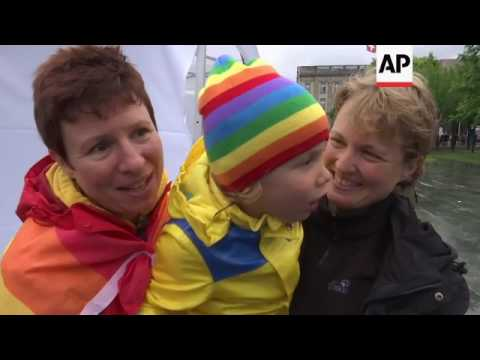 Celebrations as Germany legalizes gay marriage
