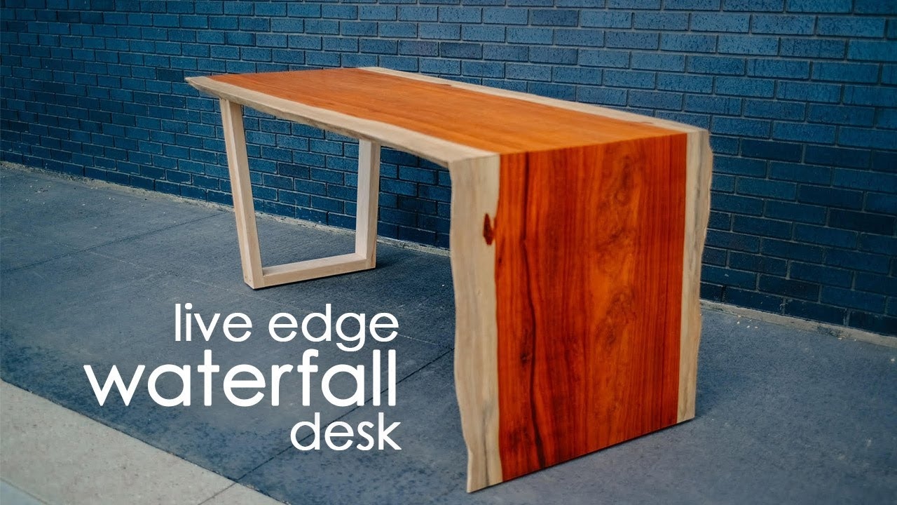 Live Edge Waterfall Table Desk