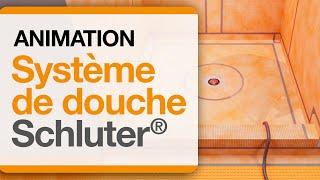 Animation du Système de douche Schluter®