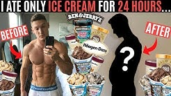 I ate nothing but ICE CREAM for 24 HOURS and this is what happened...