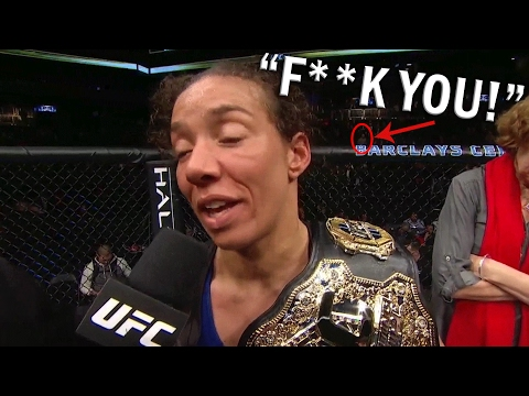 """F**K YOU"" Guy - UFC 208 Germaine de Randamie Octagon Interview"