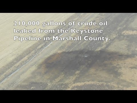 Site of the oil leak in Marshall County, South Dakota