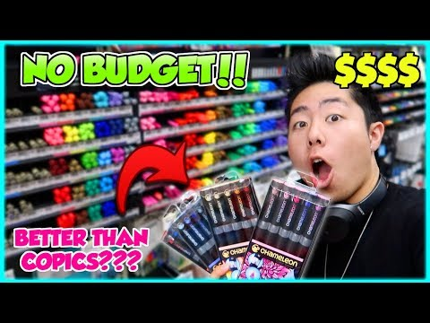 NO BUDGET AT MICHAELS ART STORE SHOPPING SPREE!! (Starving Artist Clears the Store)