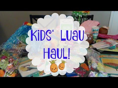 Kid's Luau PARTY Haul | Oriental Trading Company , Dollar Tree & Hobby Lobby