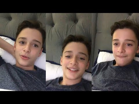 Noah Schnapp | Instagram Live Stream | 21 August 2017