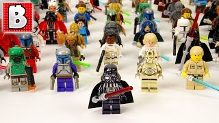 Every Lego Star Wars Minifigure Ever Made!!! 800+ Minifigs