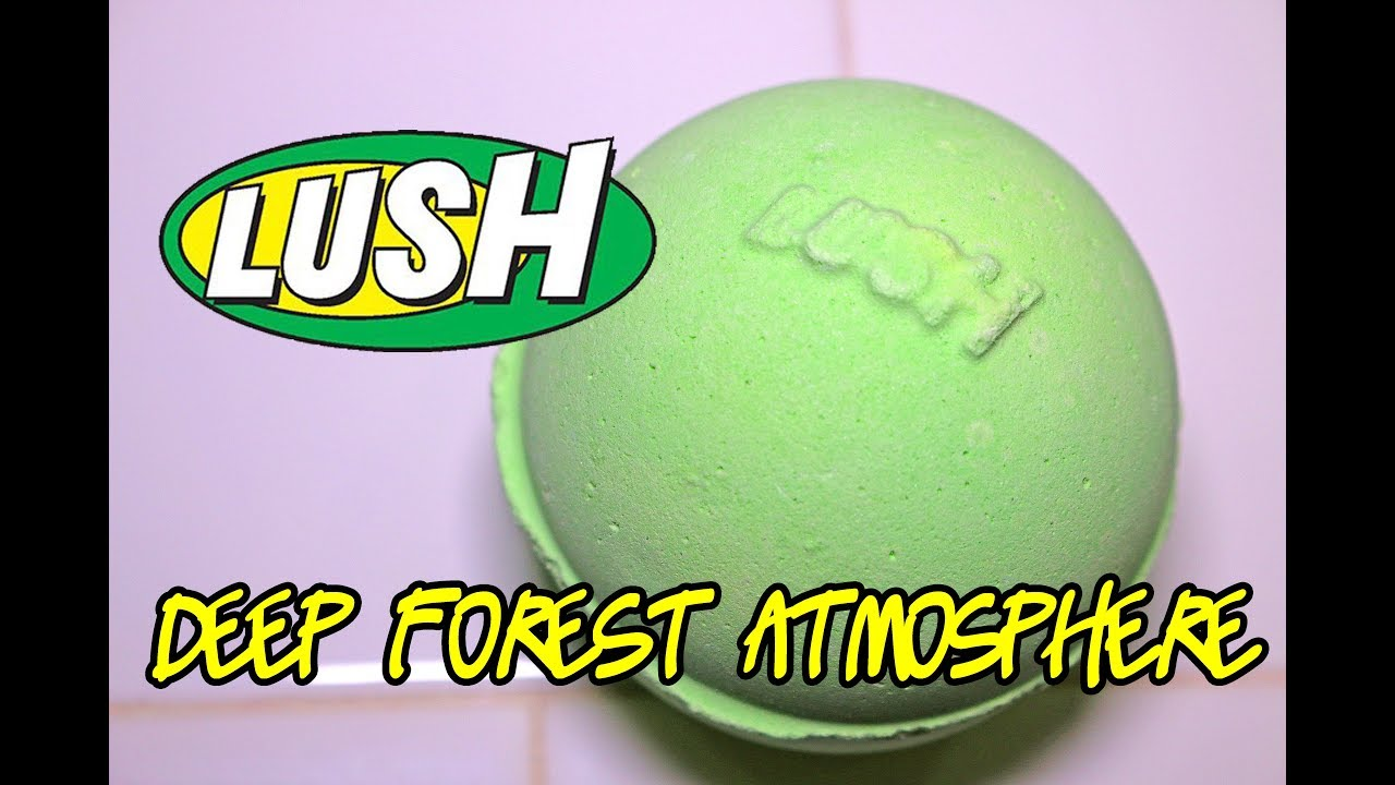 LUSH - DEEP FOREST ATMOSPHERE Bath Bomb - DEMO - Underwater - REVIEW ...