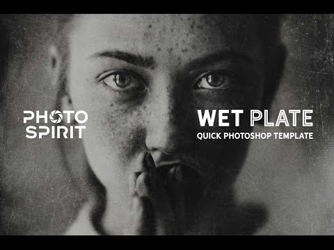 Wet Plate Photoshop Template