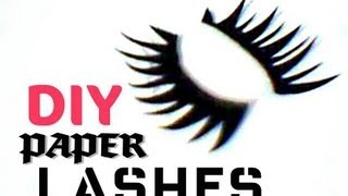DIY : Paper Lashes